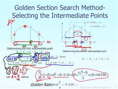 golden section search lecture golden search section method theory part 2 of 6