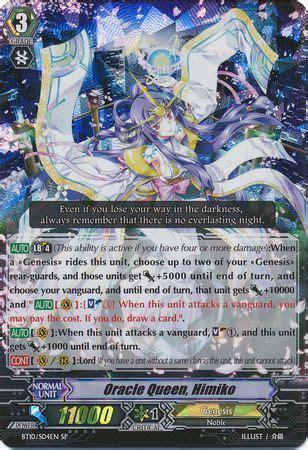 Kartu Cardfight Vanguard Oracle Himiko Sp oracle himiko bt10 s04en special parallel sp vol 10 triumphant return of the