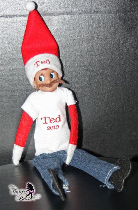 pattern for elf clothes elf on the shelf clothes and mustache by cutsieputsie on