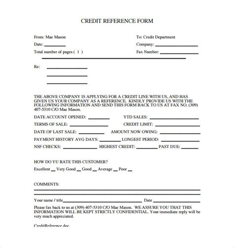 Credit Card Checkout Form Template by Credit Reference Form Template Business