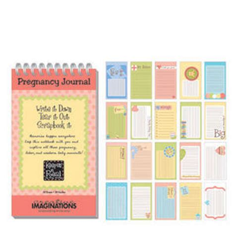 printable pregnancy journal template scratch art paper