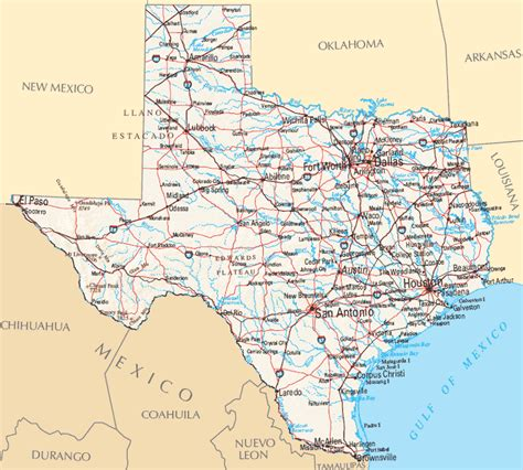 texas state on map texas city map county cities and state pictures