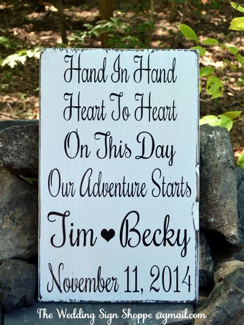 17 Best ideas about Wood Wedding Signs on Pinterest