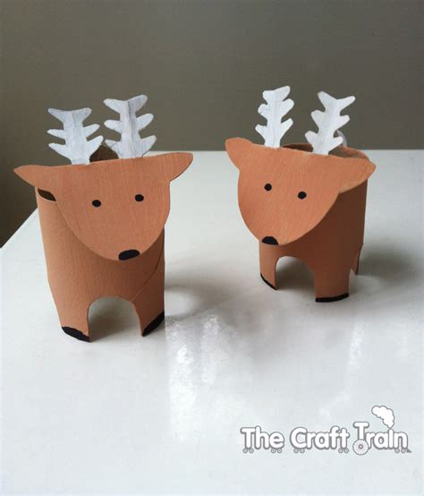 How To Make A Paper Reindeer - toilet roll reindeer