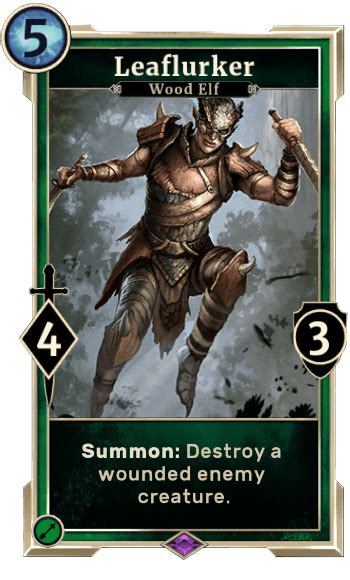 elder scrolls legends card template leaflurker elder scrolls legends wiki wiki