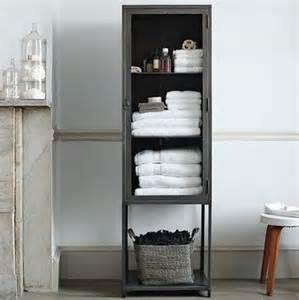 tall industrial metal bath cabinet modern bathroom