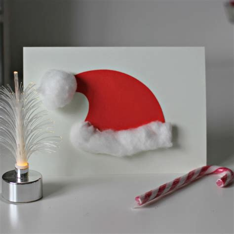 santa hat christmas cards 5 minute craft mum in the