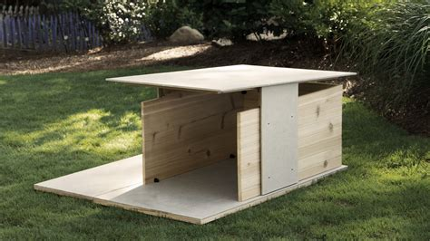 modern dog house plans puphaus a modern dog house from pyramd design co dog milk