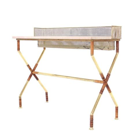 X Base Console Table X Base Brass And Marble Top Console Table With Planter For Sale At 1stdibs