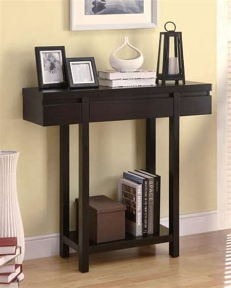 Entry Table With Shelves Modern Cappuccino Wood Shelves Entry Table Occasional