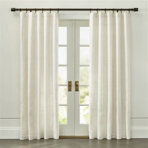 ivory silk drapes silvana ivory silk curtain panel crate and barrel