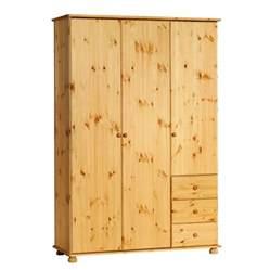 kleiderschrank massivholz kiefer kleiderschrank britta 3 t 252 rig kiefer gebeizt ge 246 lt