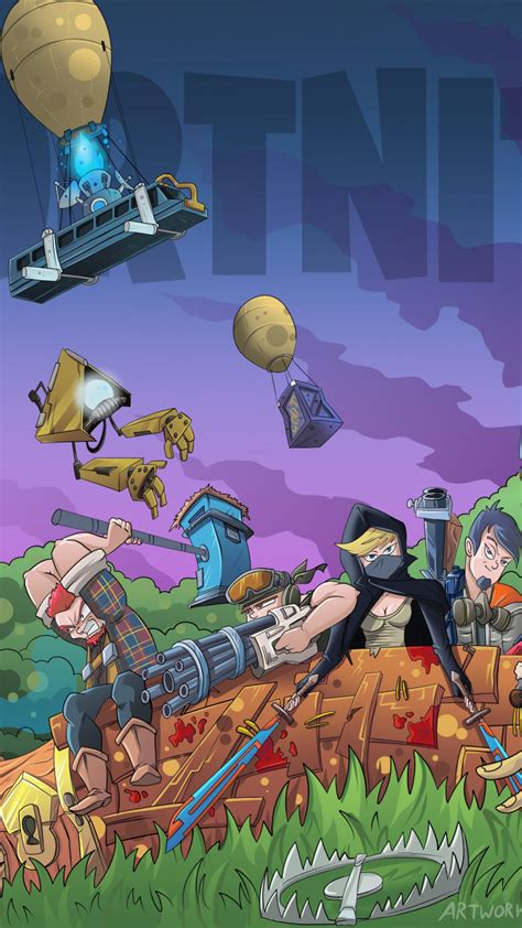 wallpaper fortnite video game