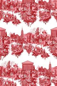 Timorous beasties fabric new york city toile fabric