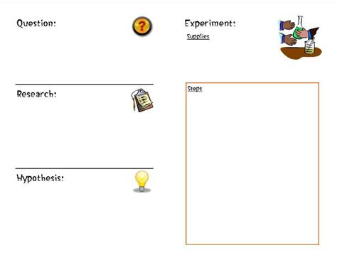 science experiment booklet
