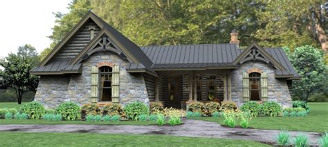 stone ranch with european flair hwbdo77256 ranch from ranch house plan with 3 bedrooms and 2 5 baths plan 4514