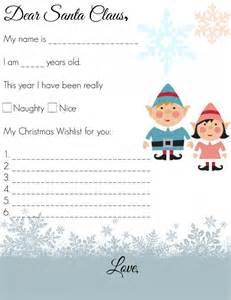 Dear Santa Template Kindergarten Letter by Dear Santa Letter For Preschoolers Farmer S Rambles