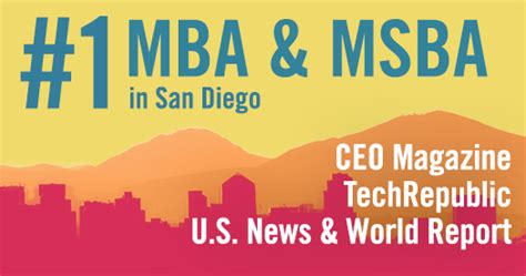 Ucsd Mba Employment Report by Rady Programs Earn Top Rankings By U S News Ceo Magazine
