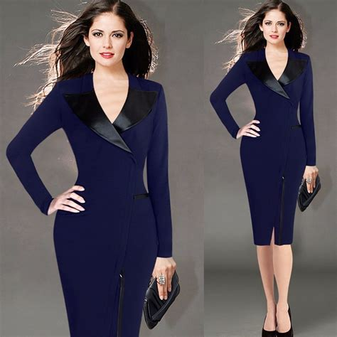size dress xl long sleeve warm winter notched work