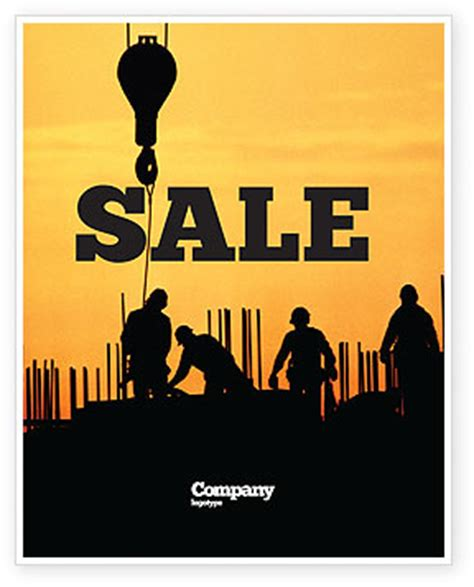 Building Industry Sale Poster Template In Microsoft Word Publisher And Adobe Illustrator Team Building Poster Template