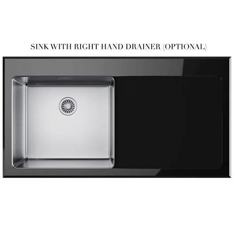 Franke Kubus Kbv 611 Black Glass 1 0 Bowl Inset Kitchen Black Glass Kitchen Sink