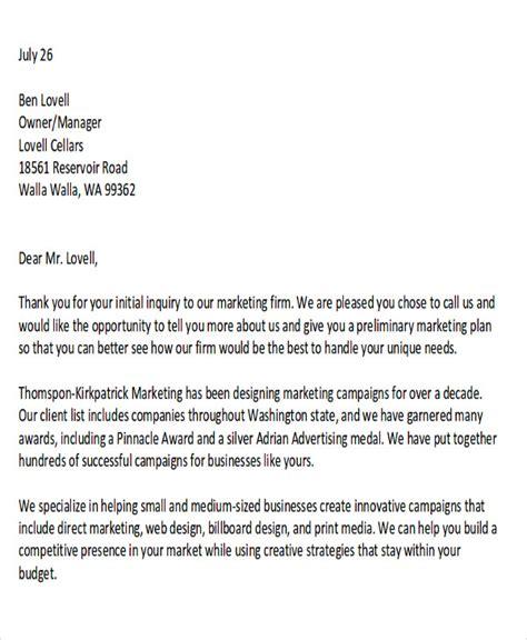 sample marketing proposal letter templates