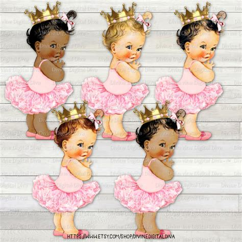 Pocheprincess In Baby Pink by Princess Ballerina Light Pink Gold Crown Vintage Baby
