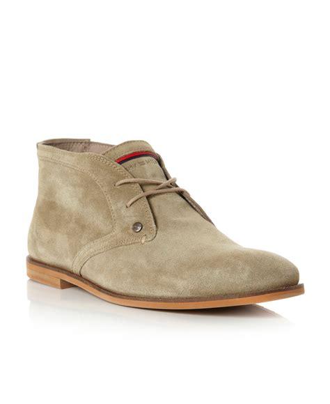 hilfiger mens boots hilfiger adam 4b sole desert boots in beige