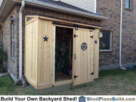 6x10 Lean To Shed Lean To Shed With Barn Door Icreatables