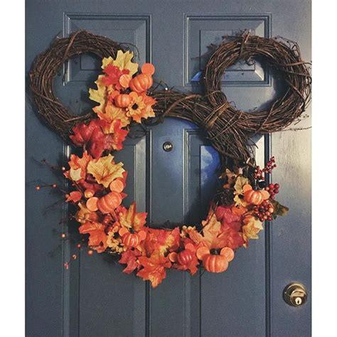 mickey mouse autumn wreath  cute