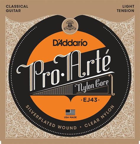 d addario ej43 pro arte light tension classical guitar strings strings acoustic guitar steamboat ie