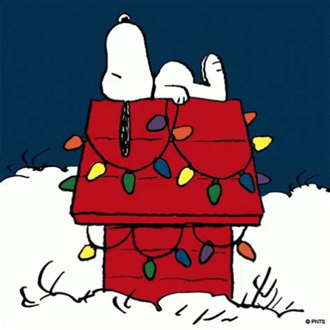 peanuts animated christmas images snoopy gifs tenor
