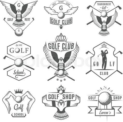gulf logo vector vector set of vintage golf logos labels and emblems