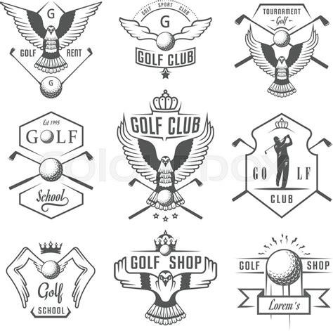 vintage gulf logo vector set of vintage golf logos labels and emblems