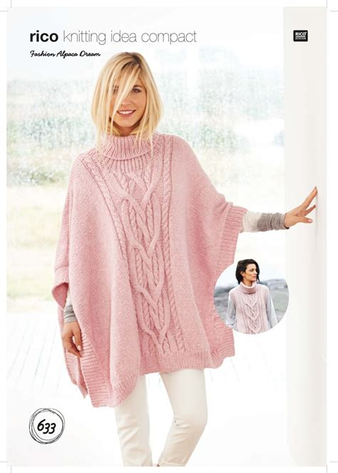 Lk Ponco poncho and tabard in fashion alpaca 633 downloadable pdf