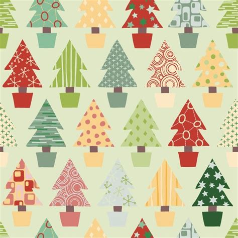 abstract tree pattern abstract christmas tree seamless background vector free