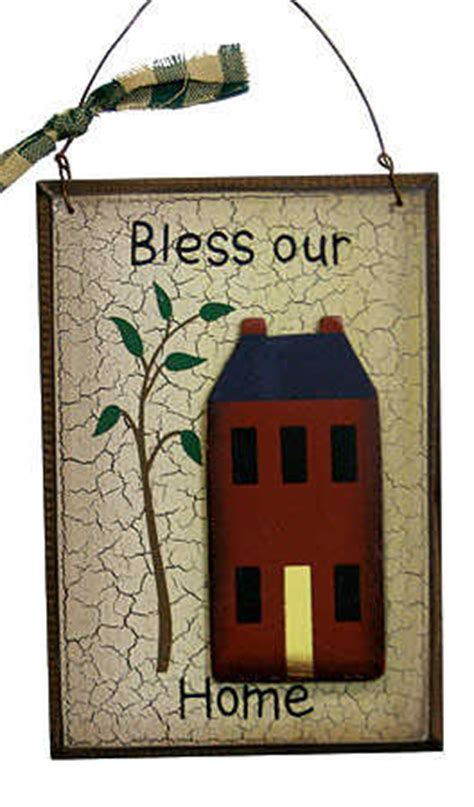 primitive wood quot bless our home quot sign signs ornaments
