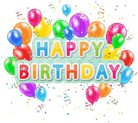 Happy birthday deco text with balloons png clip art image pics to use pinterest art images