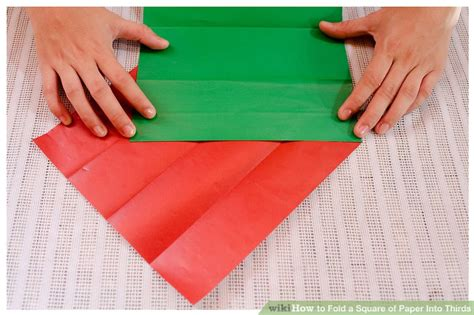 How To Fold Paper Into 10 Squares - how to fold a square of paper into thirds 12 steps