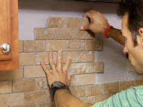 Installing Glass Tile Backsplash In Kitchen by Install A Tile Backsplash How Tos Diy