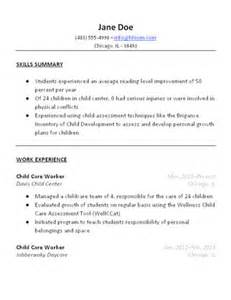 Child Care Worker Sample Resume – Sample Child Care Worker Resumes for Microsoft Word (.doc)
