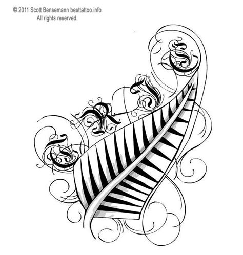 new zealand fern tattoo designs tribals new zealand silver fern