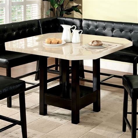 furniture of america carribean pub height dining table in