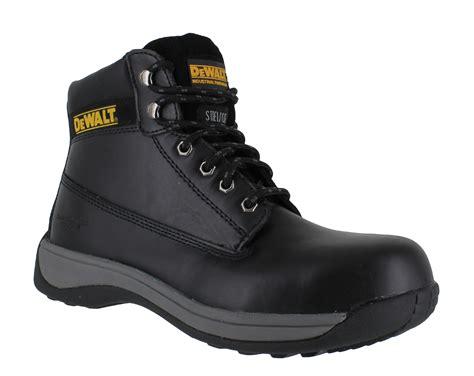 mens steel toe cap boots dewalt apprentice mens safety boots steel toe cap ebay