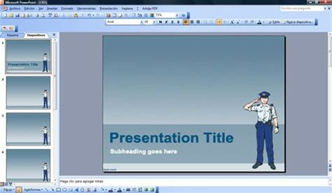 powerpoint templates free police free police powerpoint template