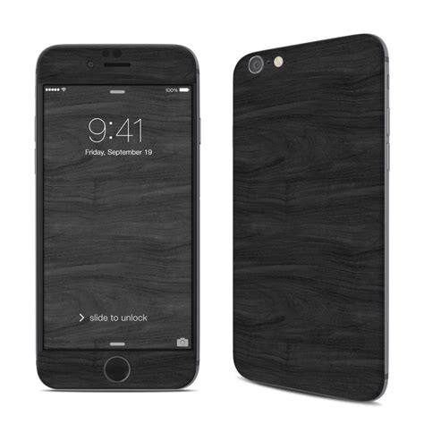 custom themes for iphone 6 apple iphone 6 skin black woodgrain decalgirl