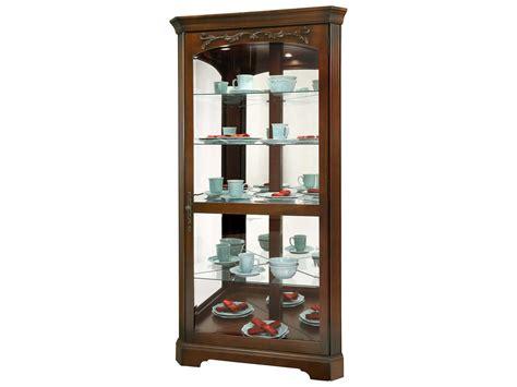 howard miller tessa hton cherry corner curio cabinet
