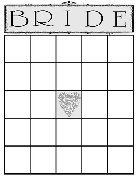Blank Bingo Card Template For Bridal Shower by Blank Bingo Template Free 5x5 Myideasbedroom