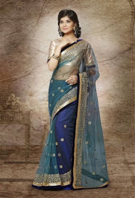 Misel Blouse Sweater Blue Misel Blose buy copers blue net with gold secquence work sarees with