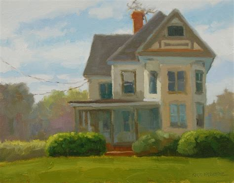 Painting Of House | plein air paintings from paint snow hill featured in may